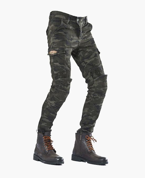 Biker Jeans Army Khaki Camo Flexi C-KEV1