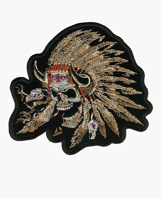 Hot Leathers Patch Indian Skull/нашивка