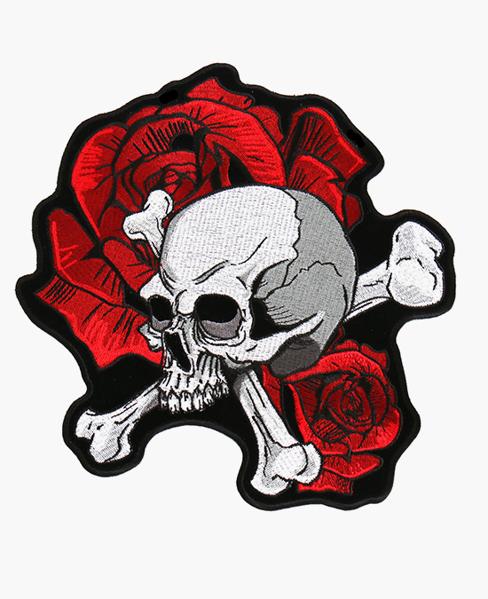 Hot Leathers Patch Skull and Rosesl/нашивка