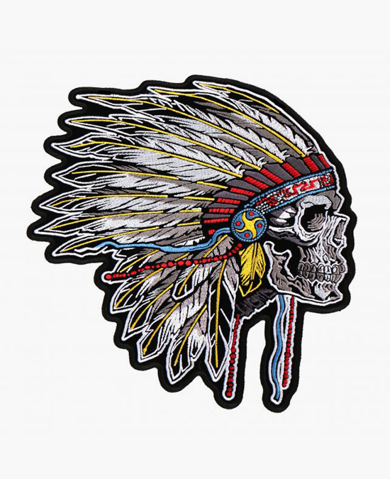 Hot Leathers Patch Side Indian Skull/нашивка