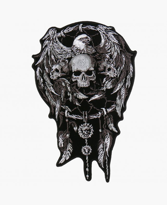 Hot Leathers Patch Skulls & Dream Catcher/нашивка