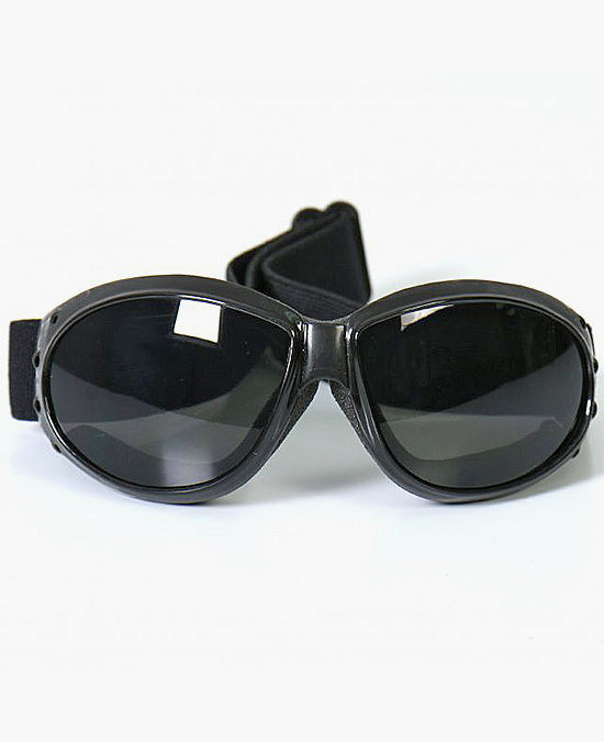 Hot Leathers Eliminator Motorcycle Riding Goggles with Smoke Lenses/очки