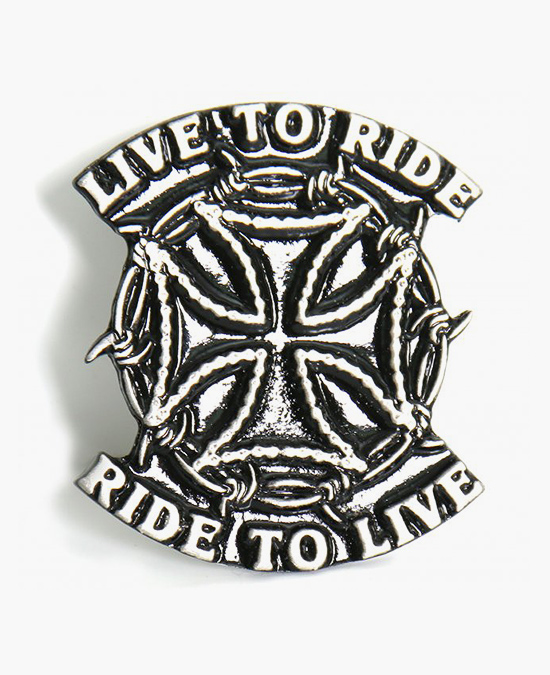 Hot Leathers Pin Live to Ride/значок