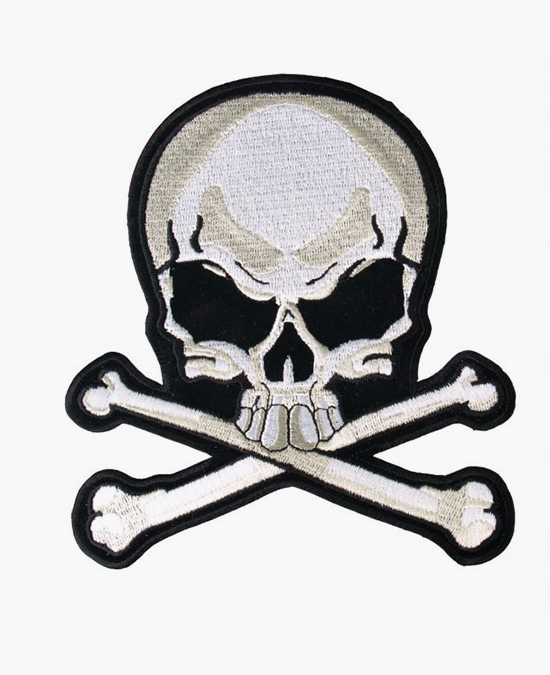 Hot Leathers Patch Skull & Bones/нашивка