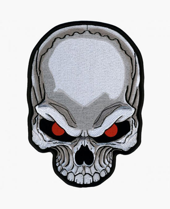 Hot Leathers Patch Skull Red Eyes/нашивка