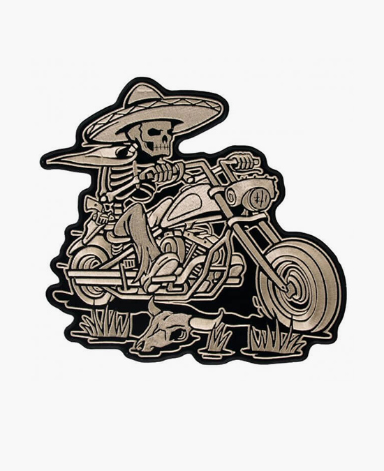 Hot Leathers Patch Sombrero Skeleton Ride/нашивка