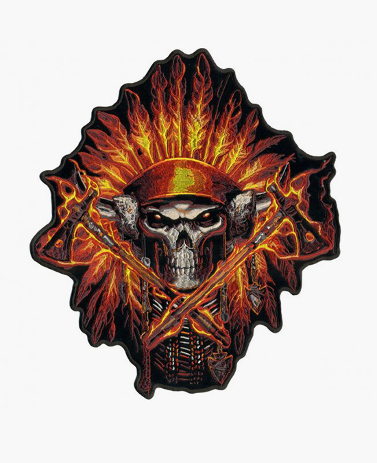 Hot Leathers Patch Flame Headress/нашивка