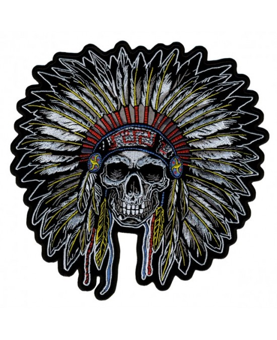 Hot Leathers Patch Chip Indian Skull/нашивка