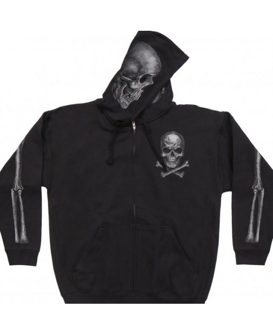 Hot Leathers Jolly Roger Skull Hoodie/толстовка мужская