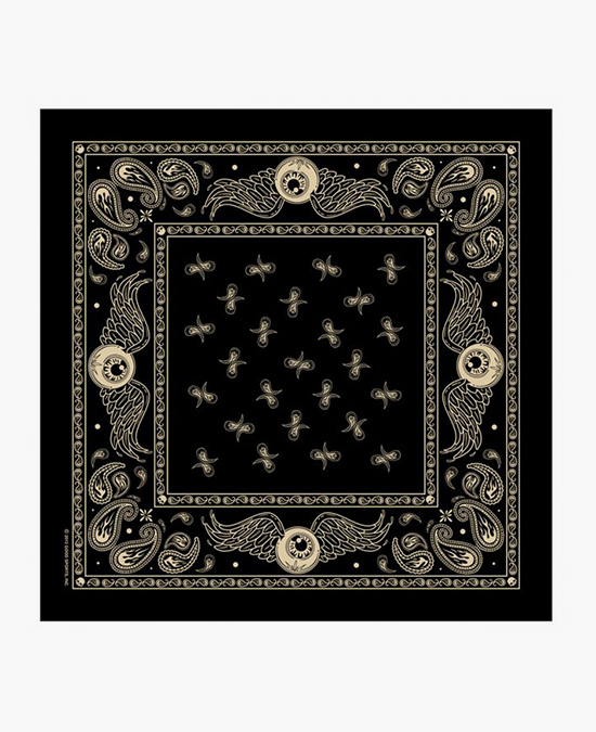 "Hot Leathers Bandana Flying Eyeball Paisley 21x21""/бандана"