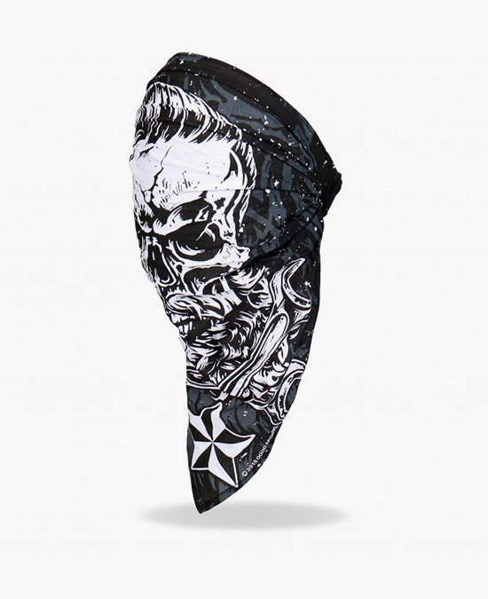 Hot Leathers 4 in1 Bearded Skull Head Wrap/маска