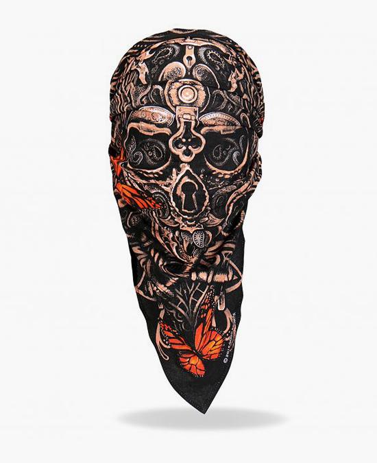 Hot Leathers Lock and Key Skull Head Wrap/маска