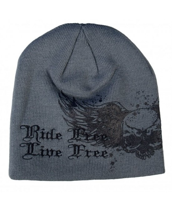 Hot Leathers Skull with Wings Beanie/шапочка