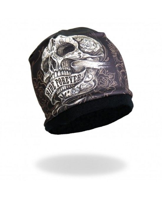 Hot Leathers Banner Skull Beanie/шапочка