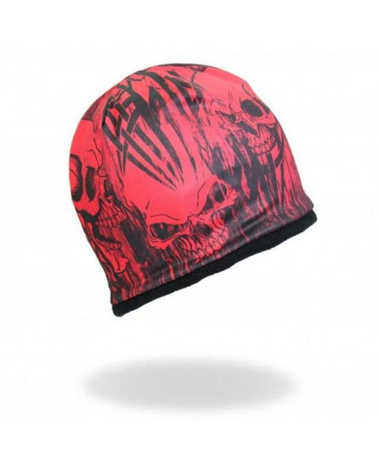 Hot Leathers Over the Top Skull Beanie/шапочка