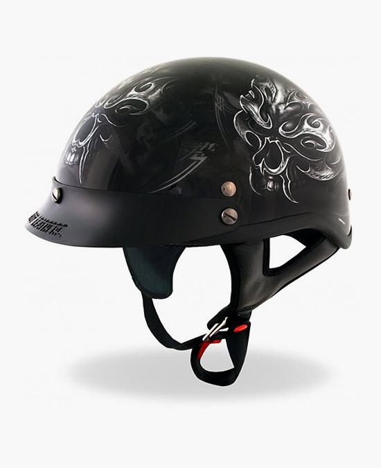 Hot Leathers Helmet Dot Electric Skull/шлем
