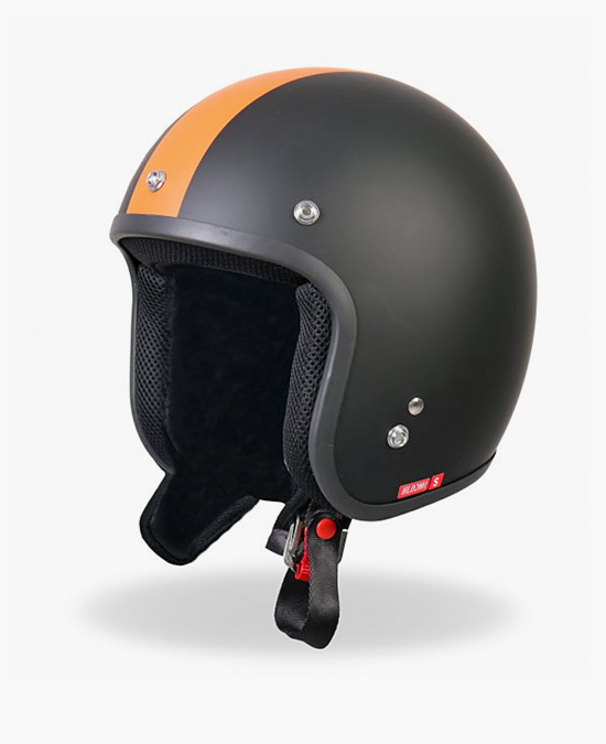 Hot Leathers Helmet Retro Orange Stripe/шлем