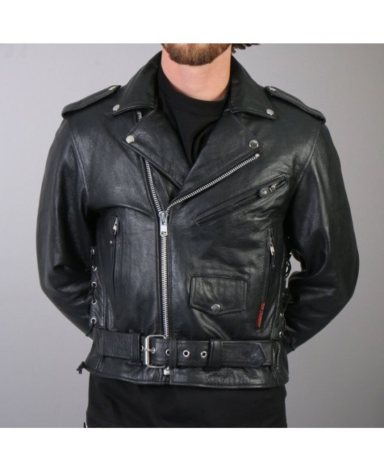 Hot Leathers Classic Motorcycle Jacket/куртка мужская