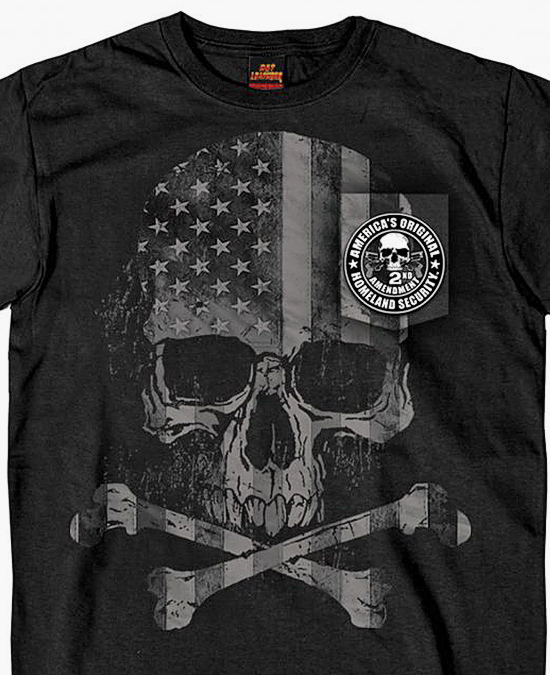 Hot Leathers Patriotic Skull Pocket T-shirt/футболка мужская