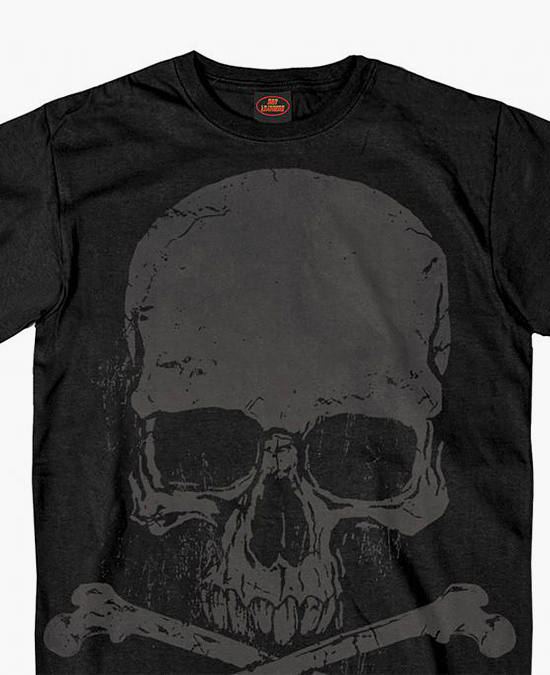 Hot Leathers Skull and Crossbones Jumbo Print T-shirt/футболка мужская