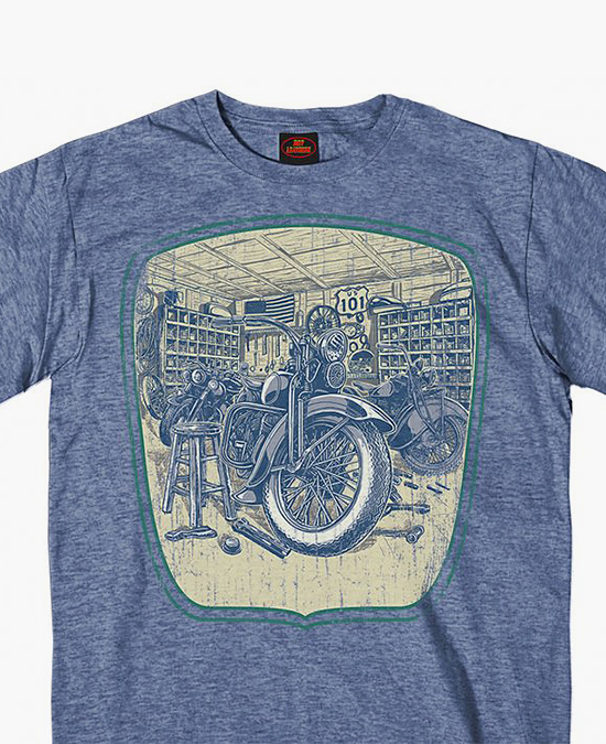Hot Leathers Garage Built T-shirt/футболка мужская