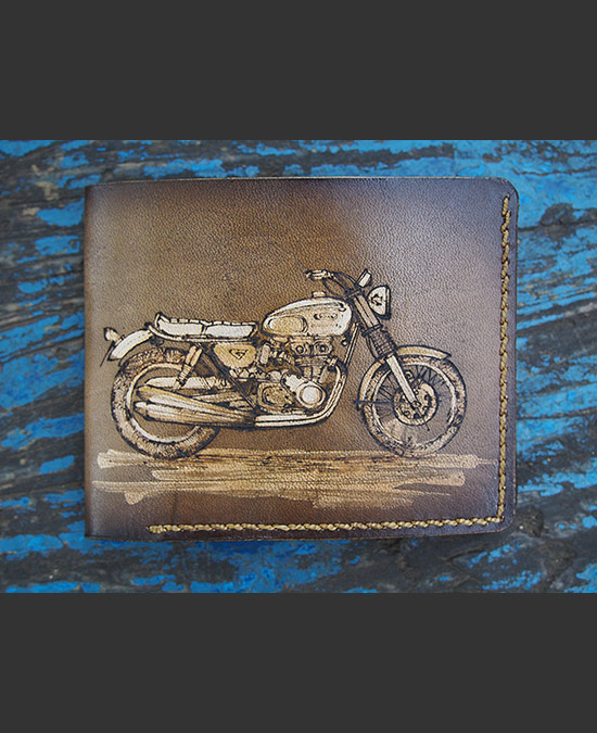 SmyrnovLeather кошелек Мотоцикл Cafe Racer