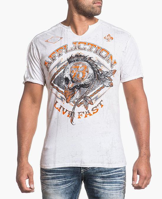 Affliction AC Warpath Tee/футболка мужская