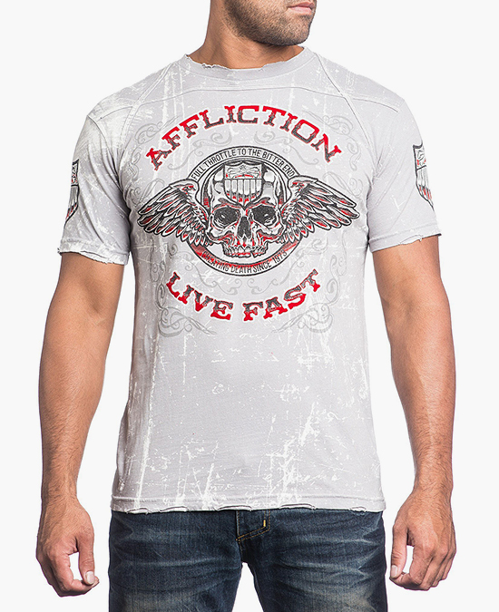 Affliction White Knuckled S/S Tee/футболка мужская