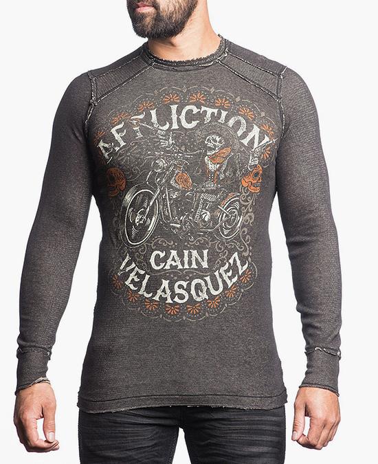 Affliction Velasquez Caballero Thermal Tee/футболка мужская