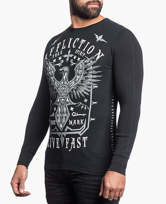 Affliction Black Death L/S Thermal Tee/футболка мужская