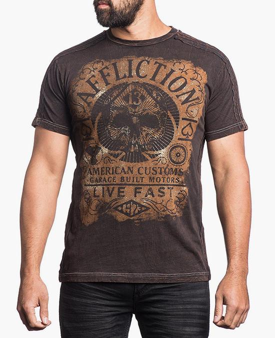 Affliction Gas Guzzler Tee/футболка мужская