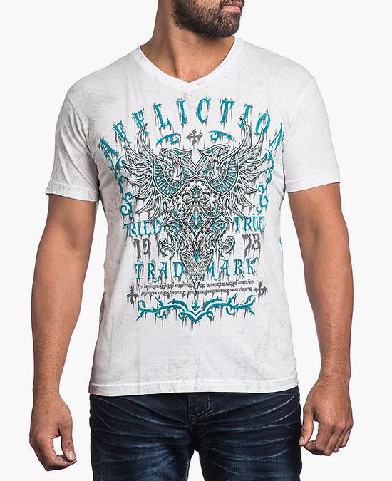 Affliction Tried Attack VNeckTee/футболка мужская