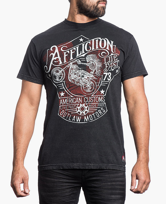 Affliction Snake River Outlaw Tee/футболка мужская