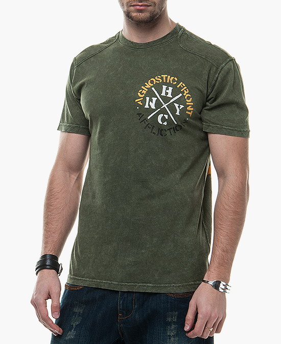 Affliction Agnostic Front  Tee/футболка мужская