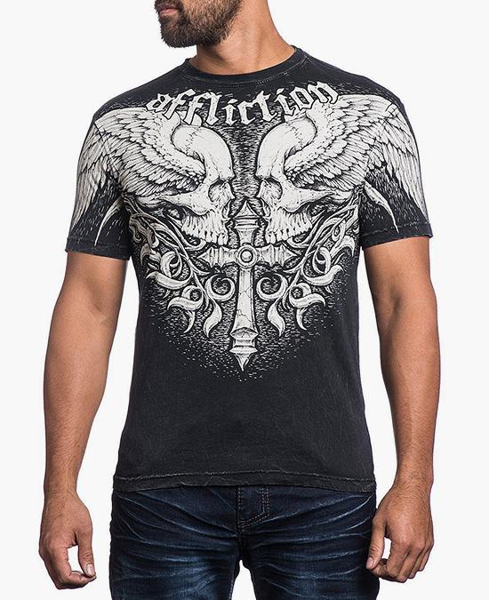 Affliction Power Tour S/S Tee/футболка мужская