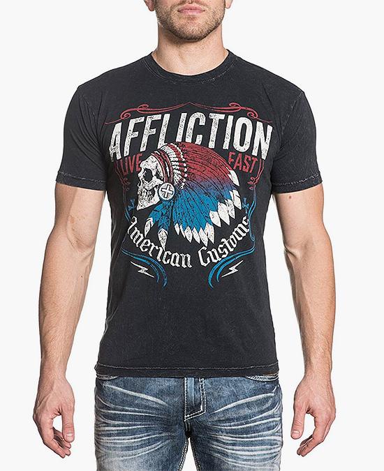 Affliction AC Tomahawk S/S Tee/футболка мужская
