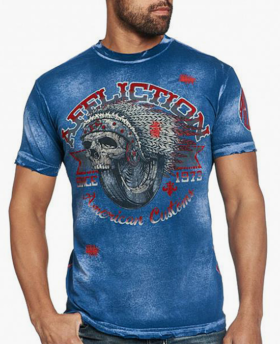 Affliction Bull Run S/S Tee/футболка мужская