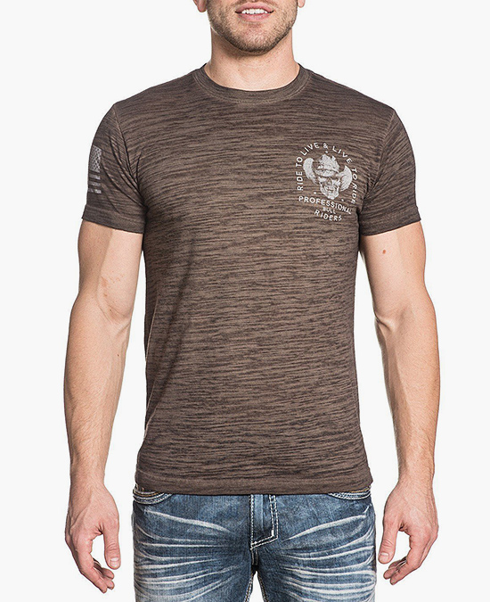Affliction PBR Live To Ride S/S Tee/футболка мужская