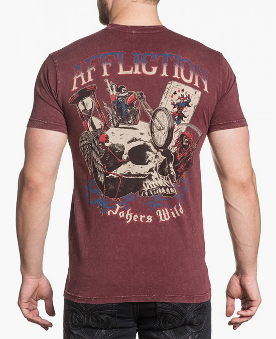 Affliction Jockers Wild S/S Tee/футболка мужская