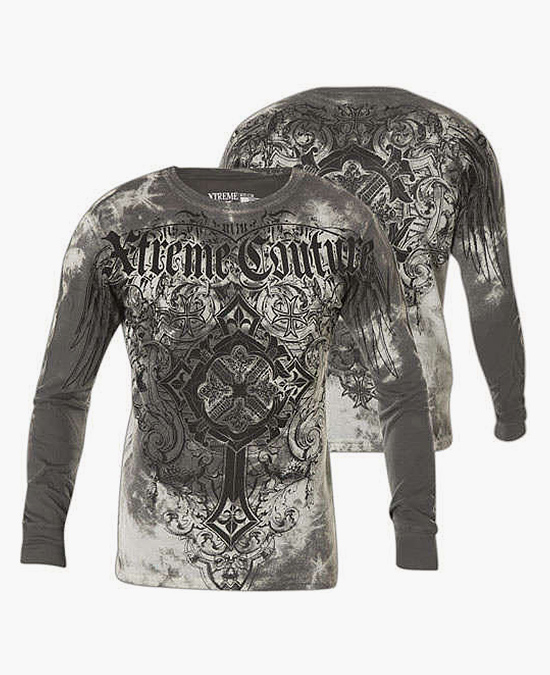 Affliction Ultra Mega L/S Thermal Tee/футболка мужская