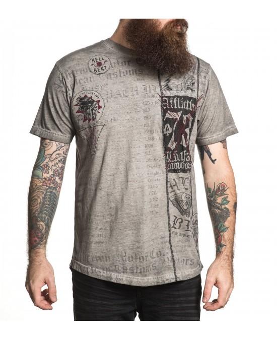 Affliction Hell Bent S/S Tee/футболка мужская