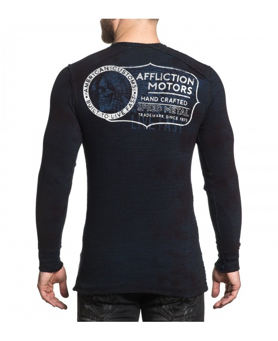 Affliction AC Cannonball L/S Rev.Thermal Tee/футболка мужская