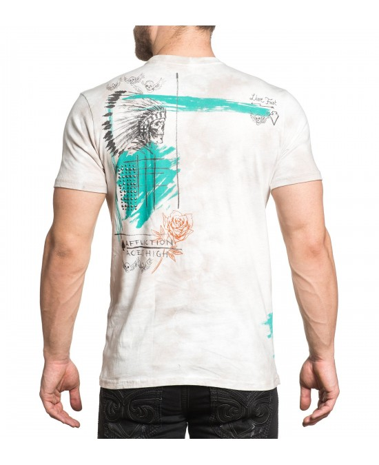 Affliction Aces High S/S Tee/футболка мужская