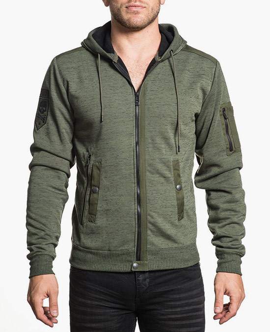 Affliction Beginnings L/S Zip Hoodie/толстовка мужская