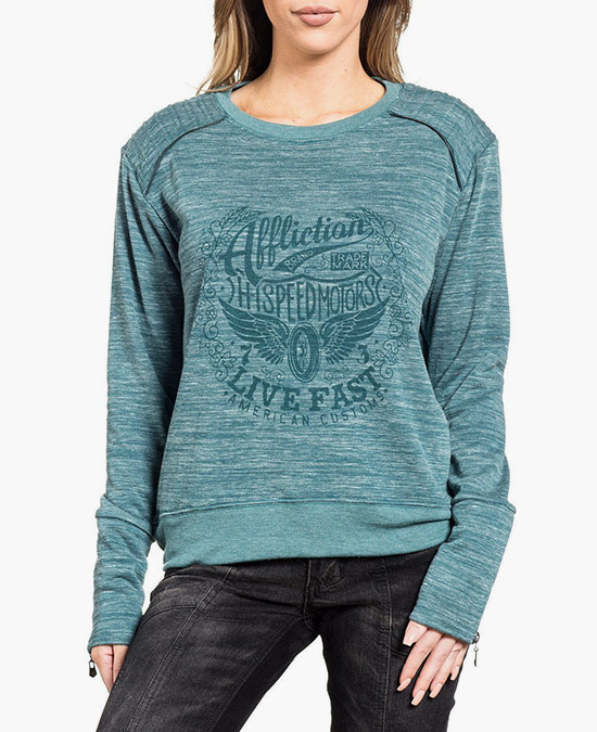 Affliction Women Jaded Pullover/пуловер женский