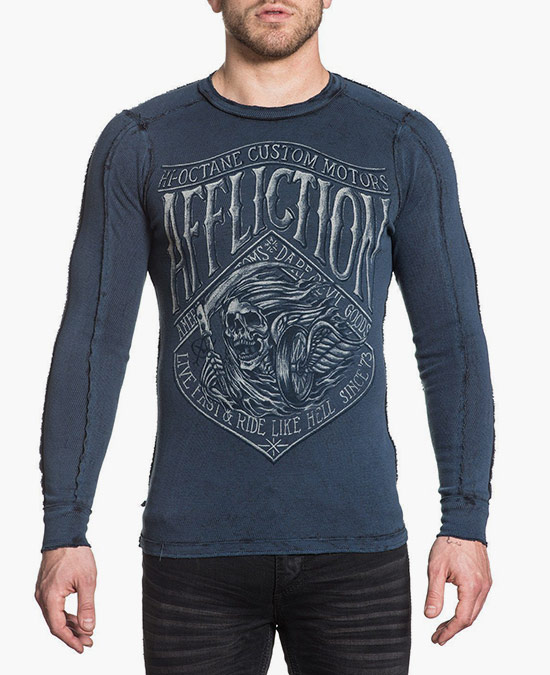 Affliction Death Rider L/S Rev.Thermal Tee/футболка мужская