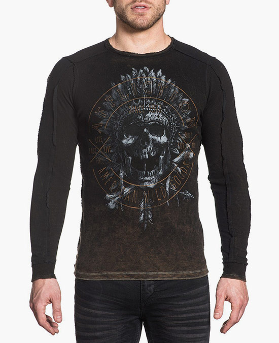 Affliction AC Last Tribe L/S Rev.Thermal Tee/футболка мужская