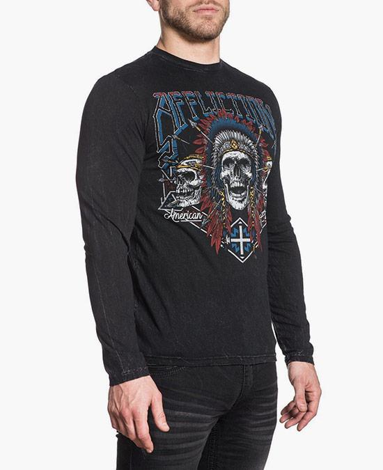 Affliction AC Wild Jackal L/S Tee/футболка мужская