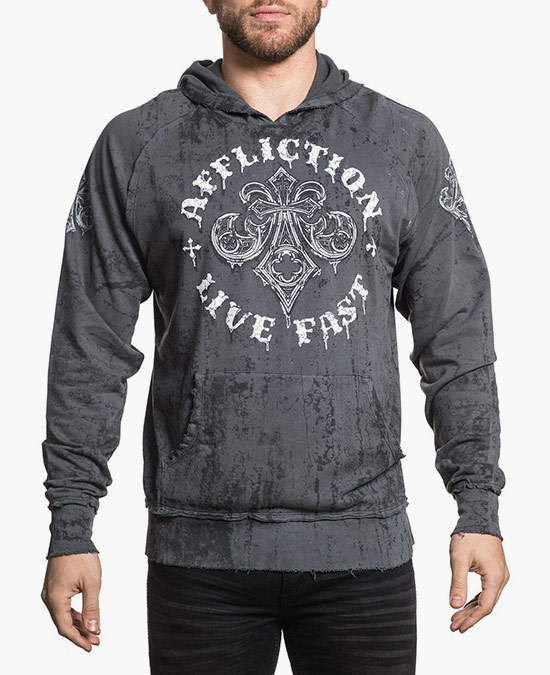 Affliction Royale Rust L/S Hoodie/толстовка мужская