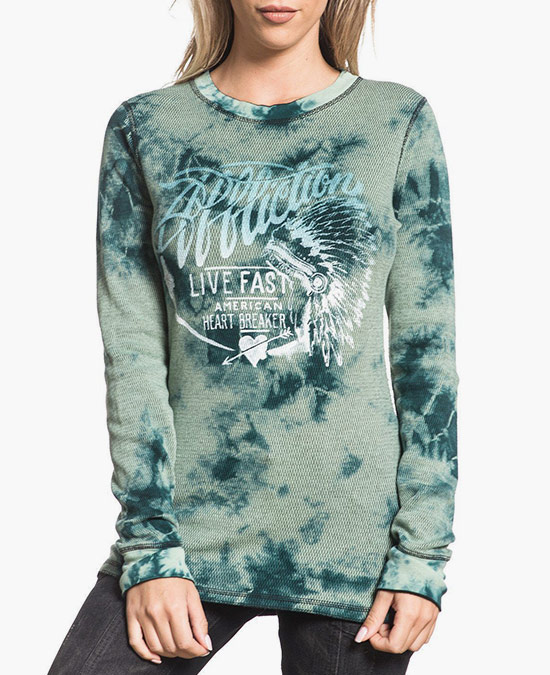 Affliction Women Breckenridge L/S Rev.Thermal Tee/футболка женская